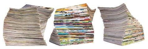 Aislantes de muchos diarios Foto de archivo libre de regalías