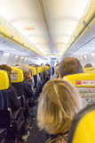 Aisle in an airplane Stock Photos