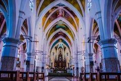Aisle, Altar, Arches Stock Photo