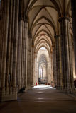Aisle of Cologne cathedral Royalty Free Stock Photos