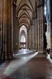 Aisle of Cologne cathedral, Germany Royalty Free Stock Photography