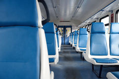 Aisle. Into an empty train stock photography