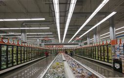Aisle of food Royalty Free Stock Image