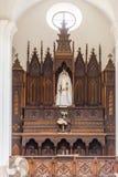 Aisle of the Iglesia de Parroquial de la Santisima in Trinidad, Royalty Free Stock Photography