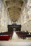Aisle Leading to Altar in Kings College Chapel Royalty Free Stock Photos