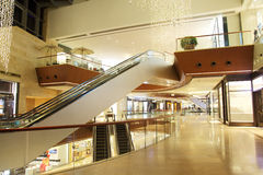 The aisle of modern luxury shopping mall Stock Photo