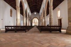 The aisle and Naves of the Santa Clara Church. Stock Image