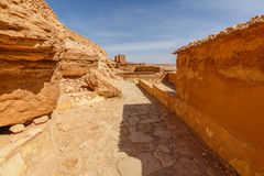 Aisles inside the fort Ait Ben Haddou. Stock Photography