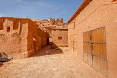 Aisles inside the fort Ait Ben Haddou. Royalty Free Stock Photos
