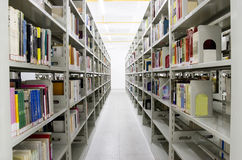 The aisles in a public library Stock Image