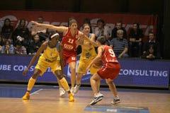 aiste篮球euroleague布拉格usk vici 免版税库存图片