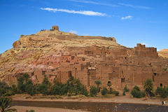 ait古老benhaddou城市摩洛哥 库存照片