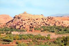 Ait在瓦尔扎扎特摩洛哥附近的本Haddou被加强的镇 免版税库存图片