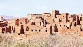 Ait在瓦尔扎扎特摩洛哥附近的本Haddou 图库摄影