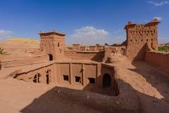 Ait在瓦尔扎扎特附近的本Haddou在摩洛哥,非洲 库存照片