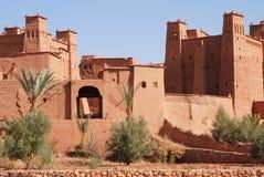 ait阿拉伯benhaddou摩洛哥城镇 图库摄影