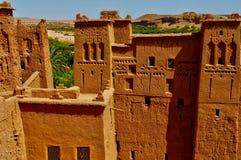 Ait Ben Addou, ksar w pustyni Fotografia Royalty Free