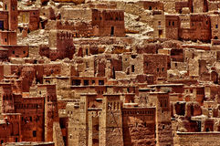 Ait Ben Addou, um ksar no deserto Foto de Stock