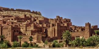 Ait Ben Addou, um ksar no deserto Foto de Stock Royalty Free