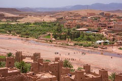 Ait Ben Haddou from above Stock Images