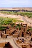 Ait Ben Haddou From Above Marocko Royaltyfri Bild