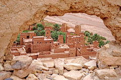 Aït Benhaddou fortified village in Morocco royalty free stock image
