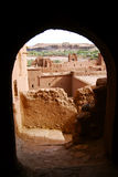 Ait Ben Haddou Through Arch, Marokko Royalty-vrije Stock Afbeelding