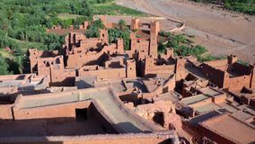 Ait Ben Haddou (or Ait Benhaddou) is a fortified city along the former caravan route between the Sahara and Marrakech in Morocco royalty free stock photography