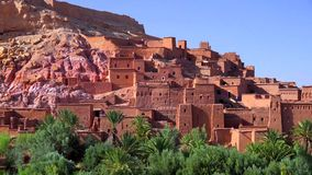 Ait Ben Haddou (or Ait Benhaddou) is a fortified city along the former caravan route between the Sahara and Marrakech in Morocco stock photos