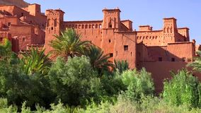 Ait Ben Haddou (or Ait Benhaddou) is a fortified city along the former caravan route between the Sahara and Marrakech in Morocco royalty free stock photo
