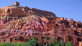 Ait Ben Haddou (or Ait Benhaddou) is a fortified city along the former caravan route between the Sahara and Marrakech in Morocco royalty free stock image