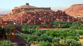 Ait Ben Haddou (or Ait Benhaddou) is a fortified city along the former caravan route between the Sahara and Marrakech in Morocco royalty free stock photos