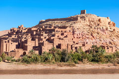 Ait Ben Haddou. (or Ait Benhaddou) is a fortified city along the former caravan route between the Sahara and Marrakech in Morocco Stock Images