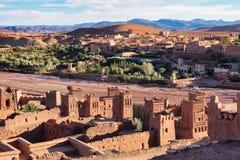 Ait Ben Haddou blisko ouarzazate w Maroko zdjęcie stock