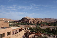 Ait Ben Haddou City in Morocco. Town of Ait Ben Haddou near Ouarzazate on the edge of the Sahara Desert in Morocco stock images