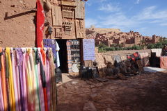 Ait Ben Haddou City in Morocco. Town of Ait Ben Haddou near Ouarzazate on the edge of the Sahara Desert in Morocco stock photography