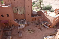 Ait Ben Haddou City in Morocco. Town of Ait Ben Haddou near Ouarzazate on the edge of the Sahara Desert in Morocco stock image