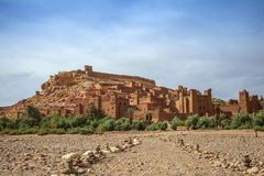Ait Ben-Haddou. Clay casbah in Morocco royalty free stock photo