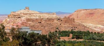 Ait Ben-Haddou in de uitlopers van de Atlasbergen in Marokko Stock Foto's