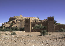 Ait ben haddou. Fortified village overview, Morocco.Art direction for many films, including Gladiator Royalty Free Stock Photos