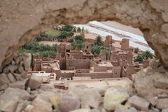 Ait ben haddou. Is historical city protected by UNESCO. All the town is made from clay Royalty Free Stock Image