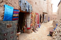 Ait ben haddou. Is historical city protected by UNESCO. All the town is made from clay Royalty Free Stock Photos