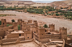 Ait ben haddou kasbah. The Kasbah Ait ben haddou in Morocco on a cloudy day Stock Photography
