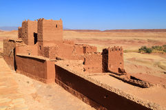 Ait Ben Haddou Kasbah kartbokberg, Ouarzazate Royaltyfria Foton