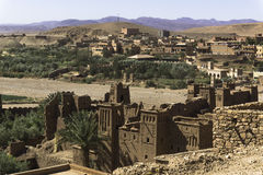 Ait ben haddou kasbah. The Kasbah Ait ben haddou in Morocco on a hot day Stock Photo