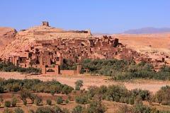 Ait Ben Haddou Kasbah, Morocco. Morocco, Ouarzazate district, Ait Ben Haddou Kasbah panoramic view. UNESCO World Heritage site royalty free stock photos