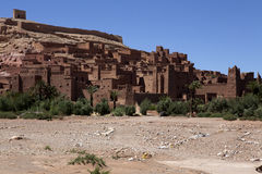 Ait Ben Haddou - kasbah wioska w Maroko Fotografia Stock