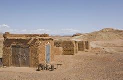 Ait Ben Haddou Ksar μόνοι λόφοι, Μαρόκο Στοκ εικόνα με δικαίωμα ελεύθερης χρήσης