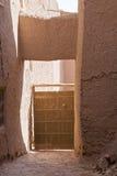 Ait Ben Haddou Ksar ξύλινη πόρτα Στοκ Εικόνες
