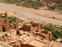 AIT-Ben-Haddou, la ville enrichie antique au Maroc image libre de droits